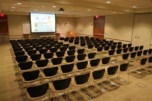 Auditorium style seating