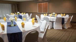 Banquet style conference room setup style