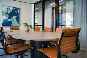 Banquet style conference room style